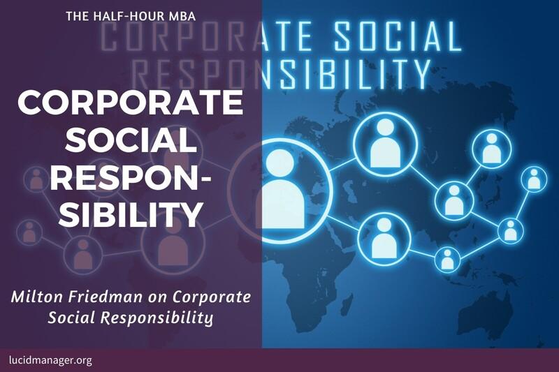 Milton Friedman on Corporate Social Responsibility